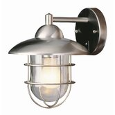 Outdoor  Wall Lantern in Stainless Steel