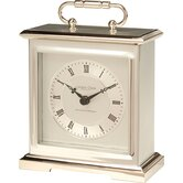Lacquered Metal Case Mantle Clock