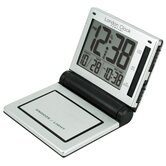 Metal Folding LCD Alarm Clock in Silver