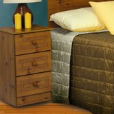 Sydney 3 Drawer Bedside Table