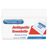 Physicianscare First Aid Antiseptic Towelettes, Box of 25