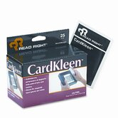 CardKleen Presaturated Magnetic Head Cleaning Cards, 25/box