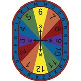 Educational Compass Kids Rug