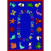 Educational ABC Animals Bold Design Kids Rug