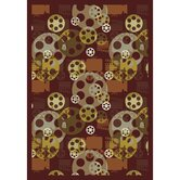 Gaming and Entertainment Blockbuster Burgundy Novelty Rug