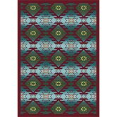 Whimsy Canyon Ridge Desert Turquoise Kids Rug