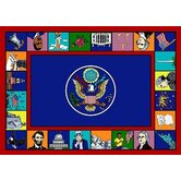 Educational Symbols of America Kids Rug