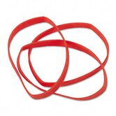 Latex-Free Orange Rubber Bands, Size 64, 3-1/2 X 1/4, 380 Bands/1Lb Box