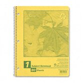 Autumn Leaf Wirebound Notebook, College/Med Rule, 8-1/2x11, WE, 80 Sheets