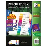 Ecofriendly Ready Index Table of Contents Divider, 1-10 Tabs, 3/Pack