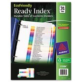 Ecofriendly Ready Index Table of Contents Divider, 1-31 Tabs