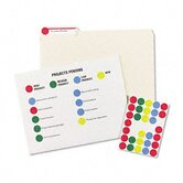 Print/Write Removable Labels, 3/4in dia, Assorted Rainbow Colors, 1008/Pk