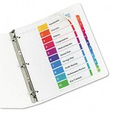 Extrawide Ready Index Dividers, 10-Tab, 9 1/2 x 11, Assorted, 10 per Set