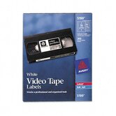 Video Tape Printer Labels, 300 Each Face & Spine Labels/pack