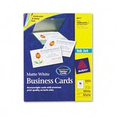 Inkjet Matte Business Cards, 2 x 3-1/2, White, 10 per Sheet, 1,000 Cards per Box