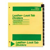 Office Essentials Printed Tab Index Divider Set, 12-Tab, Months (Set of 12)