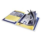 "Presentation Books, 12 Pages, 9-1/2""x11-1/2"", Blue"