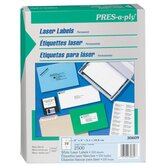 Pres-A-Ply Laser Address Labels, 2 x 4, White, 2500/Box