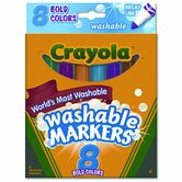 Washable Broad Point Markers (8/Set)