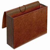 "Globe-Weis 5.25"" Expansion Accordion Wallets, Straight, Redrope, Legal"