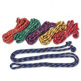 Braided Nylon Jump Ropes, 8-ft., 6 Assorted Color Jump Ropes per set