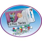 Map Tacks 50 Per Box