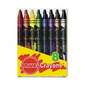 Wax Crayons, Eight Colors per Box