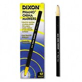 Peel-Off China Marker, Black, 12 per pack