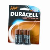 Coppertop Alkaline Batteries, AAA, 8/pack