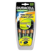Value Charger, 4 Rechargeable AA NiMH Batteries