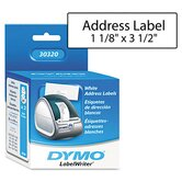 Address Labels, 1-1/8 X 3-1/2, 520/Box