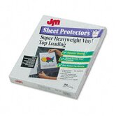Oxford Top-Load Poly/Vinyl Three-Hole Sheet Protectors, Heavy Weight, Letter, 50/Box