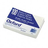 Unruled Index Cards, 4 x 6, White, 100 per Pack