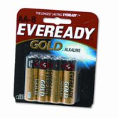 Gold Alkaline Batteries, AA, 8/pack