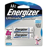 e² Lithium Batteries, AA, 2/pack