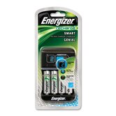 Smart Charger for AA/AAA Rechargeable Batteries, Green/Silver