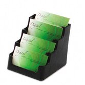 Four-Pocket Countertop Business Card Holder