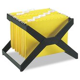 X-Rack Letter/Legal Size Hanging File, Plastic, 16 x 12 x 11, Black