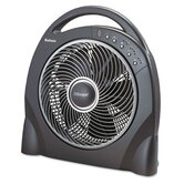 "12"" Oscillating Floor Fan with Remote, Breeze Modes, 8 Hour Timer"