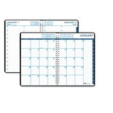 24/7 Daily Appointment Book/Monthly Planner, 7 x 10, Black, 2013