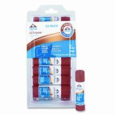All-Purpose Permanent Glue Stick, White Application, .21oz, 24/Pack