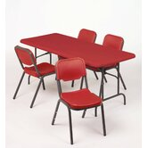 "IndestrucTable TOO 1200 Series 96"" Adjustable Folding Table"