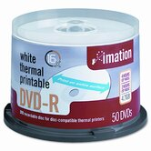 Thermal Printable DVD-R Disc, 50/Pack