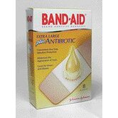 "3/4"" X 4"" BAND-AID® Plus Antibiotic Bandages (8 Per Box)"
