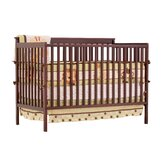 Milan 2 in 1 Fixed Side Convertible Crib Changer in Cherry