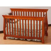 Carrara 4 in 1 Fixed Side Convertible Crib in Cognac
