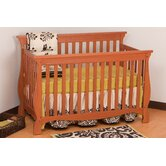 Carrara 4 in 1 Fixed Side Convertible Crib in Oak