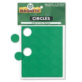 "Magnetic Circles, 3/4"" Diameter, Green, 20 per Pack"