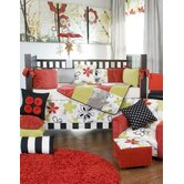 McKenzie 5 Piece Crib Bedding Set with Diaper Stacker