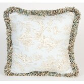 Central Park Toile Pillow with Fringe